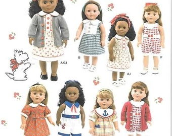 18 Inch Doll Clothes Pattern New Simplicity Sewing Pattern 1443