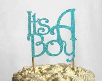 It's A Boy baby shower cake topper