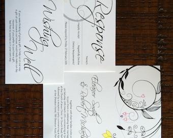 Traditional swirl printable wedding invitation