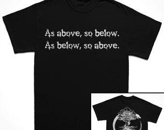 As Above, So Below Occult T-Shirt