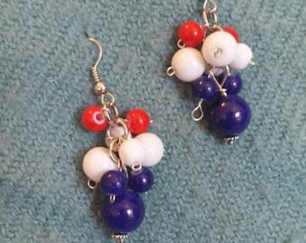 """2"""" Patriotic earrings"""