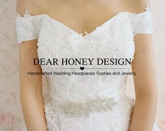 Bling Bling Leaves Bridal Belt