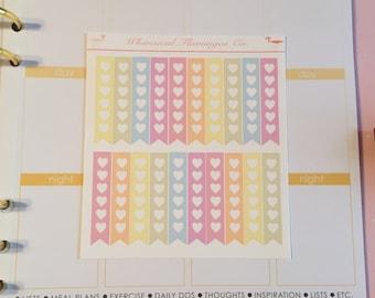 Pastel Checklist Planner Sticker Flags - Pastel Set 2