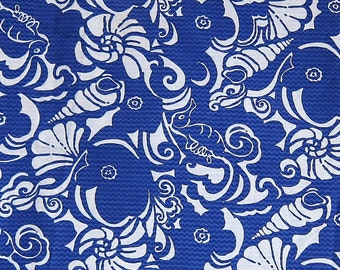 Lilly Pulitzer Jacquard Fabric Blue Tide Pools