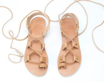 Tie up Sandals, Gladiator sandals, Lace up Sandals, Greek sandals, Handmade Sandals, Leather sandals, Summer flats