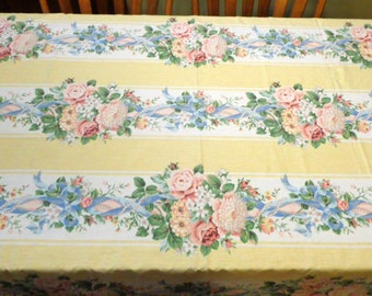 Vintage 50's Floral Tablecloth