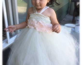 Handmade ivory cream tutu dress