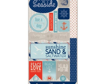 "Authentique ~ Seaside Cardstock Die-Cuts 6""X12""~Buy One Get One Free!"