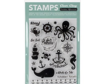 October Afternoon~Treasure Map Clear Cling Stamps
