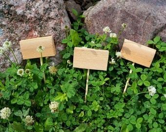 Fairy Garden Signs   Set of Three Blank Cedar Garden Markers   Herb Markers Herb Garden Markers Vegetable Garden Markers Gardening Gift
