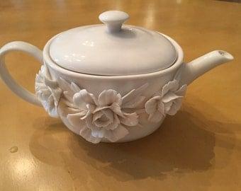 I. Godinger & Co Teapot with Flowers