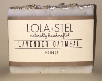 Lavender Oatmeal - All Natural Soap, Vegan Soap, Cold Process Soap