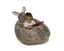 Kangaroo bean bag chair with pouch blanket