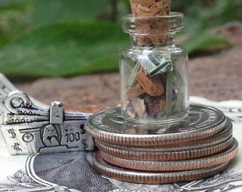Magic Spell Bottle Charm- Steady Money