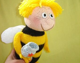 Bee Maya, Made to order, Toy bee, Bee, Gift girl, Handmade gift, Handmade Toy, Birthday gift, Toy gift, Gift beekeeper