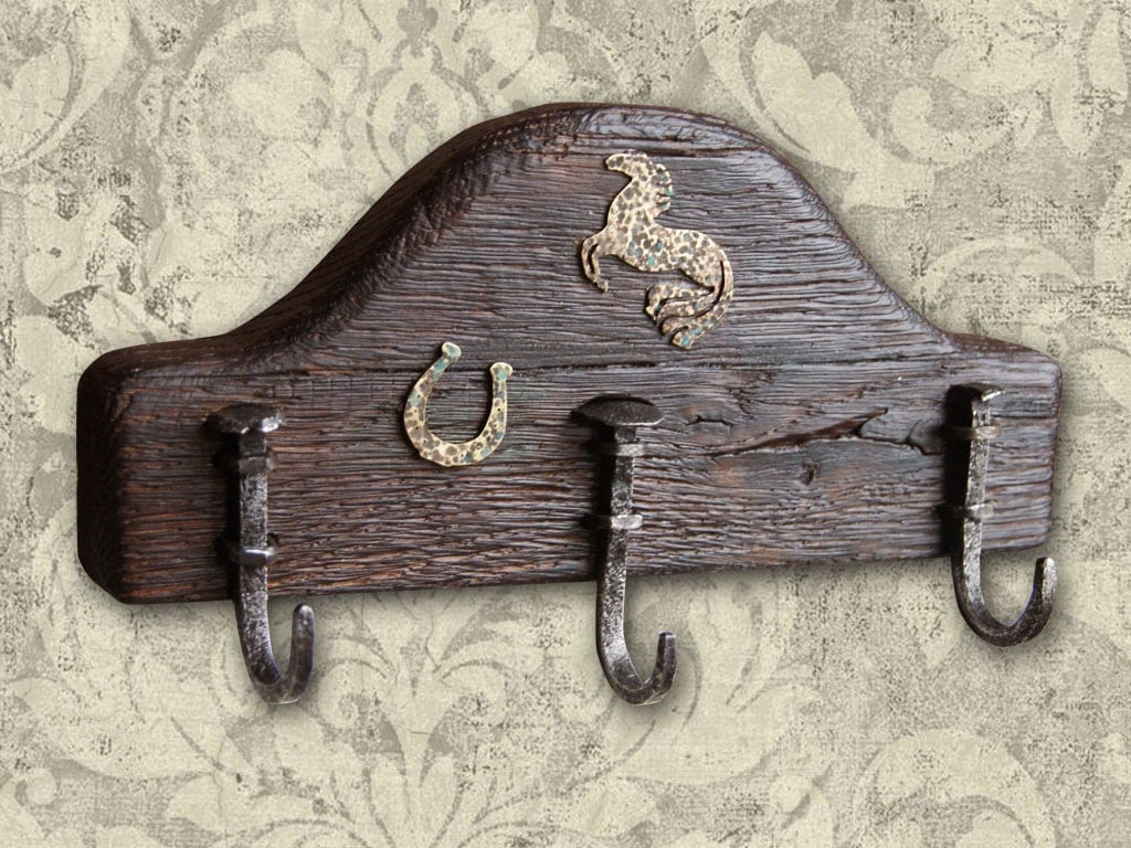 Creative Coat Rack Forged Hooks Shabby Chic Interior By