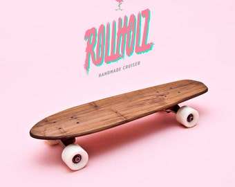 skateboard cruiser personalized in the 70s retro style rollholz