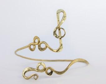 Musical key upper arm bracelet , arm cuff , arm band