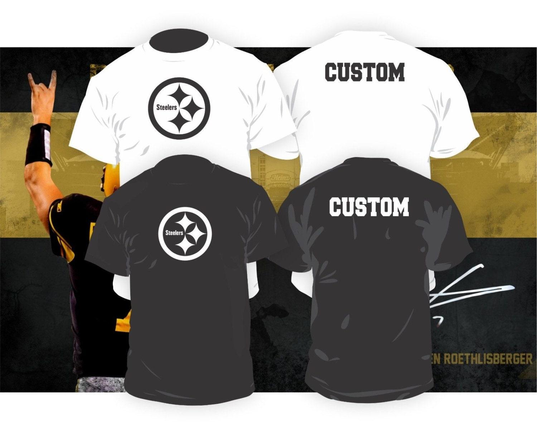 Pittsburgh steelers shirt w custom name by thecustomtee for Custom t shirt printing pittsburgh