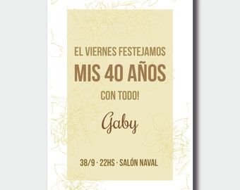 Personalized for your party invitations