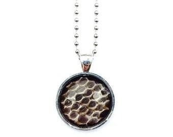 Real Snakeskin Necklace- Black