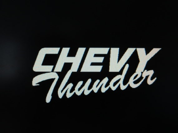 Chevy Thunder Vinyl Car Truck Auto Vehicle By