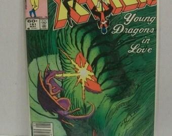 1984 Marvel Comics Uncanny X-Men #181  May  Vol 1 Young Dragon In Love  VG-Fine Unread   Chris Claremont/John Romita Jr  Comic Book