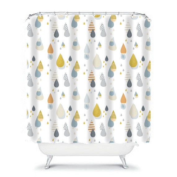 Shower Curtain Bathroom Decor Gray Shower Curtain Home
