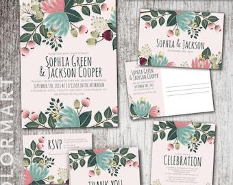 "Deluxe Printable Wedding Suite - ""Sophia"" Collection"