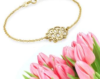 Classic Monogram Bracelet (gold)