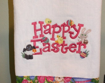 Machine Embroidered Hand Towel