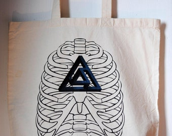 Organic Cotton Tote  with Sacred Geometry Print