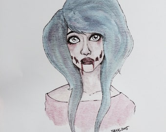 Zombie Girl Print
