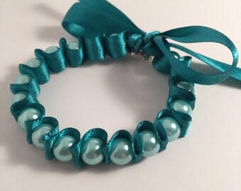 Ribbon & Pearl Bracelet