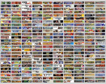 High-Quality Nintendo 64 (N64) Cartridge Spine Labels - Full 296pc North American (NTSC) Set + Extras