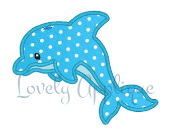 Dolphin Embroidery Design Applique - Instant Download