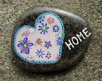 HOME, hand painted rock