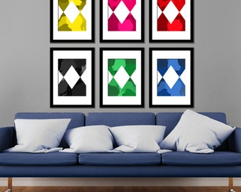 90s Kids TV Modern Art Prints Set of 6