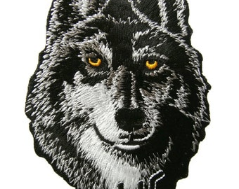 Wolf Embroidered Applique Iron on Patch