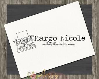 Margo Nicole Typewriter Logo, Premade Logo, Instant Download Logo, PSD Logo Template,  Custom Design Logo, DIY Logo, Logo Download, Logo #24