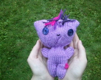 Twilight Sparkle Doll: Handknit My Little Pony Doll Twilight Sparkle Doll Brony Pegasister Fandoms MLP