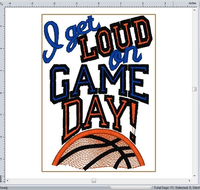 I get loud on game day embroidery sayings design for machine