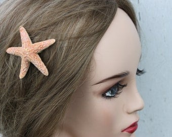 Iridescent Starfish Bridal Clip/ Hair Clip/ Beach Wedding/ Destination Wedding/ Flowergirl