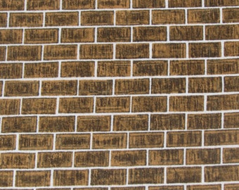 Brown Brick Fabric By QT