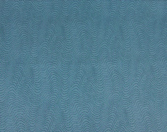 1 Yard Blue Dotted Waves Fabric