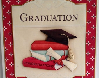 Handmade Decoupaged Graduation Congratulations Card