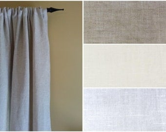 Curtain Panels Extra Wide 100% Flax Linen Curtain Panel  Linen Curtain Panels