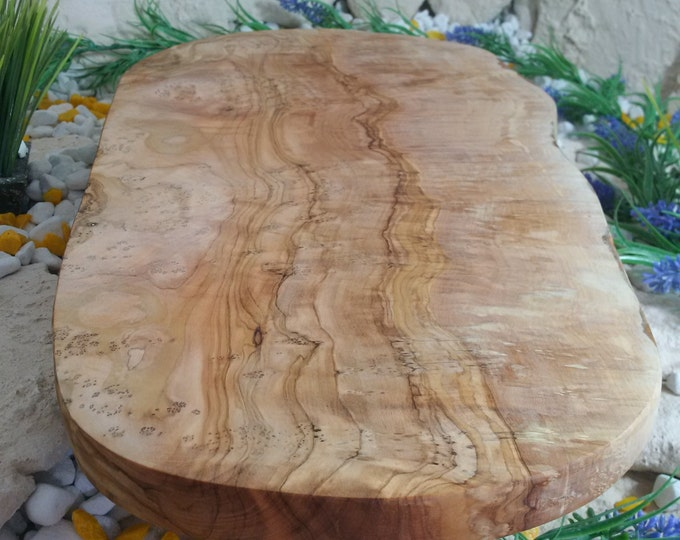 Cutting board olive wood natural cut 50 cm wood natural solid unique
