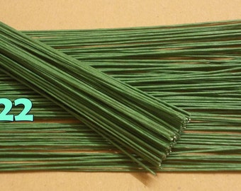 "100 Wire Stems--Gauge#22-- (Length 12"" X 1 mm) Floral Wire Flower Stem Artificial, Artificial Stems, Floral Stem, Green Wire Stems."
