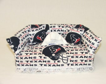 Houston Texans NFL Licensed fabric tissue box cover.